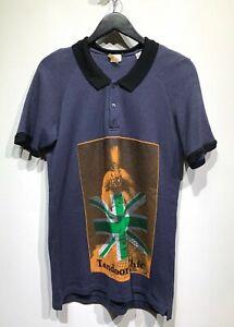 John-Galliano-034-Tandoori-Chic-034-Print-Blue-Sweatshirt-Polo-Size-XXL