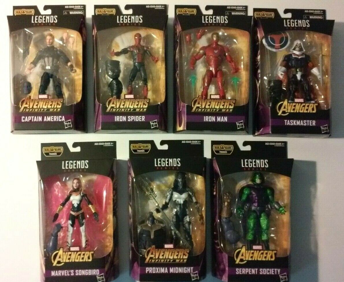 Marvel Legends Thanos 7 figure set complete MIP MISB