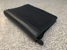Franklin Covey Black Leather Planner Calender Zipper Close