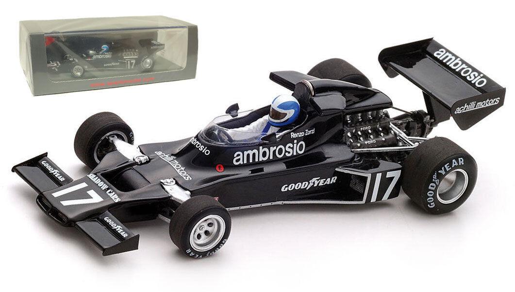 SPARK S3841 Shadow DN5B  17 6th Brazilian GP 1977-Renzo Zorzi échelle 1 43