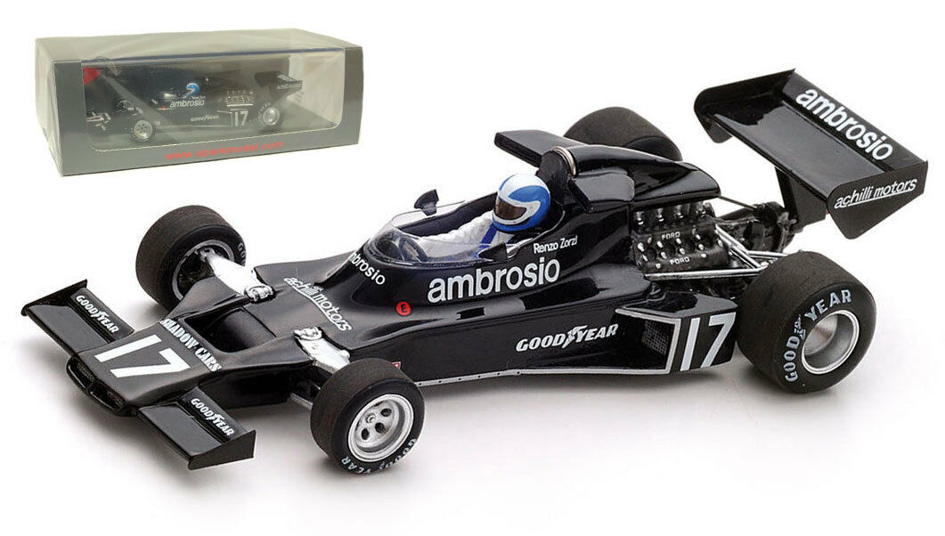 Spark S3841 Shadow DN5B th th th Brazilian GP 1977 - Renzo Zorzi 1 43 Scale 6403e4