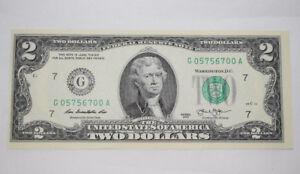 1-Uncirculated-2-Two-Dollar-Bill-USA-G05756700A-Good-Luck-Token