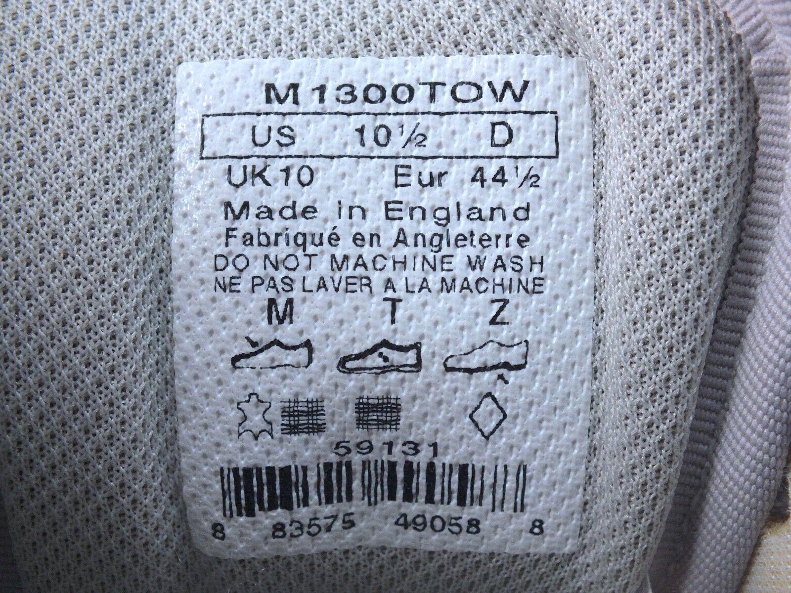 2008 New Balance 1300 Blue/Grigio/Orange England Made in England Blue/Grigio/Orange Sz 10.5D US 7a388c