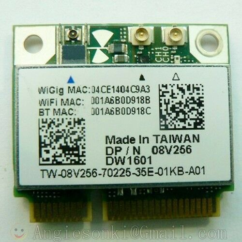 Dell Wireless DW1601 QCA9005 8V256 WiGig 802.11AD 7Gbps Half Mini Wireless Card