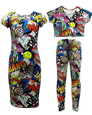 NEW Girls Graffiti Print Midi Dress Ages 7-8,9-10,11-12,13 Years