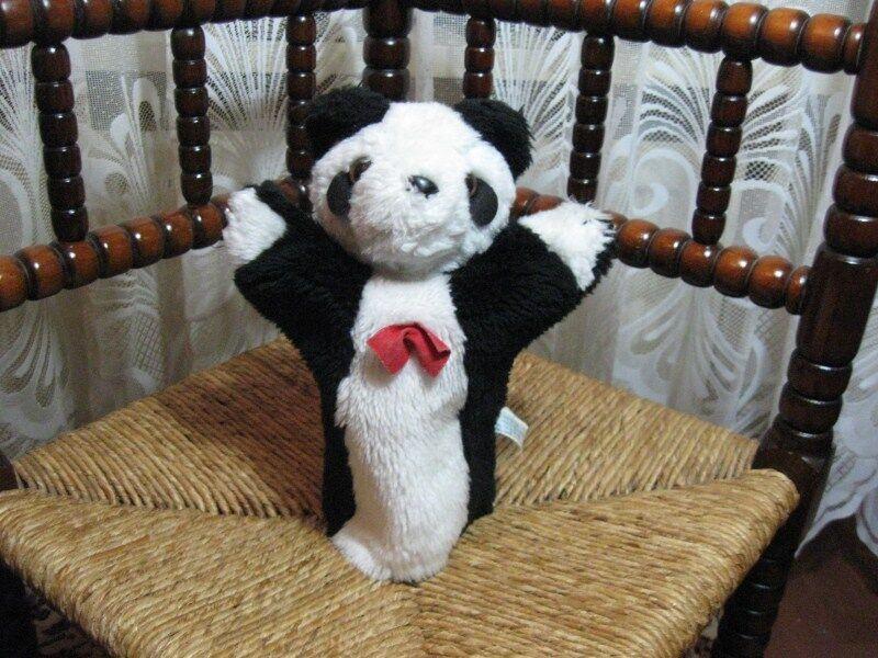 Old Vintage HA-63 Dutch Panda Bear Hand Puppet 1986 Rare