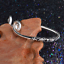 Fashion-Women-925-Sterling-Silver-Hoop-Sculpture-Cuff-Bangle-Bracelet-Jewelry-UK thumbnail 7