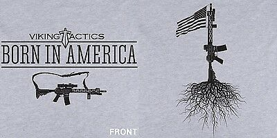 Viking Tactics VTAC Born In America S/S T-Shirt-All Sizes SM-XXL