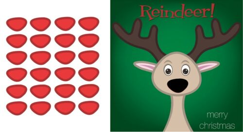 Pin the nose on the Reindeer Party Accessory rudolph