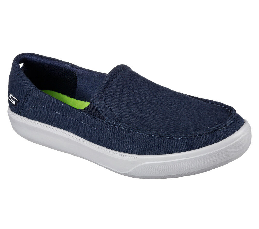NEU SKECHERS Herren Canvas Sneakers 2 Slipper Loafer GO VULC 2 Sneakers - CHILL OUT Azul adfd7f