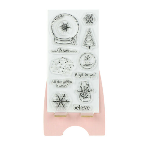 Christmas Transparent Silicone Clear Stamp Scrapbook Embossing Album Decor EV