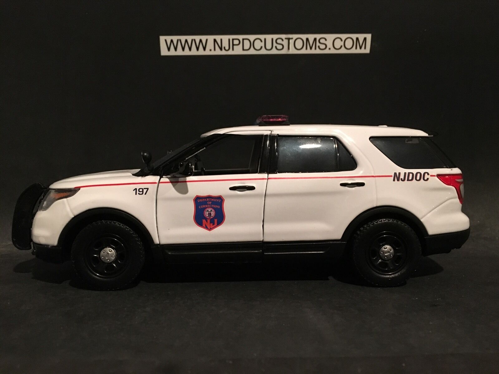NJDOC 1 24 Scale Ford Explorer Utility Interceptor Police Car