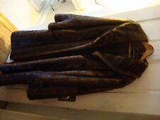 PAMELA MCCOY  FAUX FUR  BROWN/BLACK MINK LONG COAT -Medium