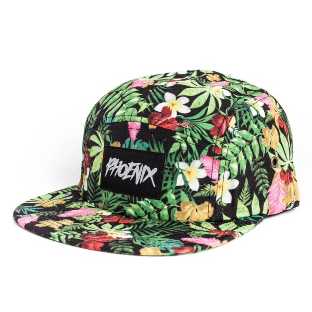 Phoenix Honolulu 5-Panel Cap Hat Volley Floral Five Casquette Palms Beach Hawaii