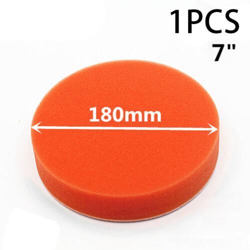 Car Sponge Polishing 180mm Pad Buffing Paint Care 7inch Flat Orange Universal