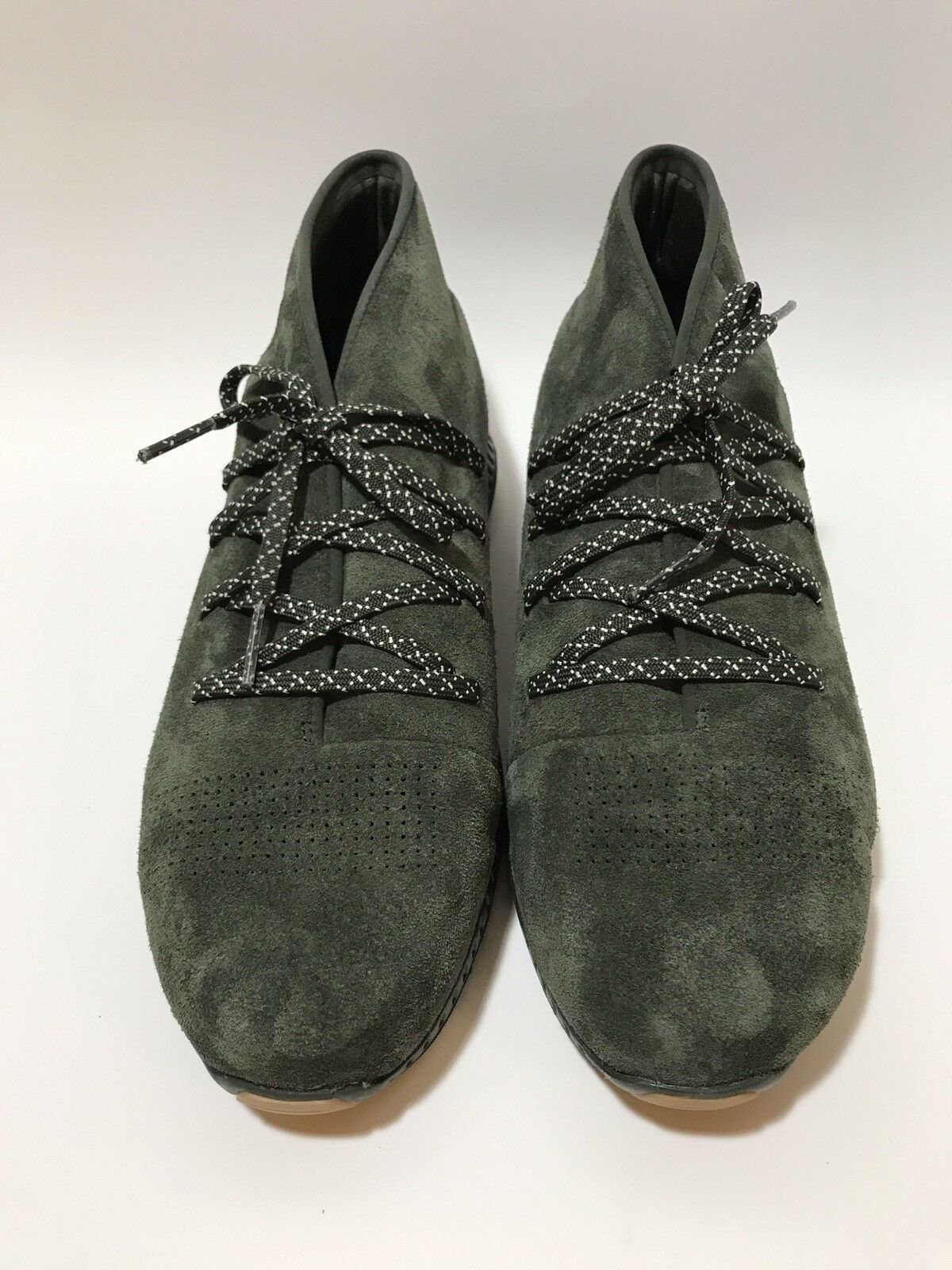 NEW UNDER ARMOUR Uomo UA Veloce Mid Lace Suede Lifestyle Shoes Olive Green 13 M