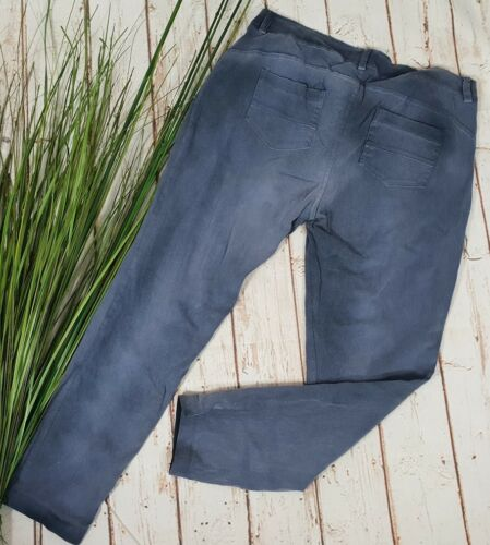 NEU ITALY VINTAGE CHILLOUT  CHINO HOSE PANTS WASHED LOOK SMOKEY BLUE M 40 42