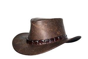 Jacaru Wild Roo Croc Digger (Kangaroo Leather) Australia Leather Hat ... 98bf7b818d68