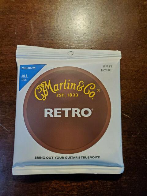 Medium Martin Retro Acoustic Guitar Strings .013-.056 MM13