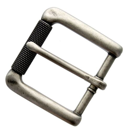 """Fits 1-3//8/"""" wide Antiqued Finish Single Prong Roller Replacement Belt Buckle"""