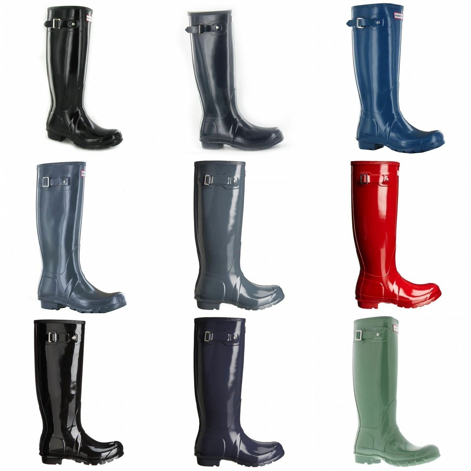 Grandes zapatos con descuento Hunter Original Tall Rubber Womens Wellington Rain Boots