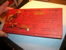 Vintage Pencil Box Ripley Believe it or Not-Sergeant Major Jiggs