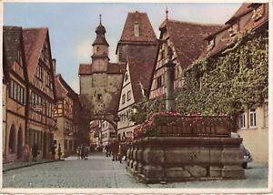 AK-Ansichtskarte-Rothenburg-ob-der-Tauber-Markusturm-1956