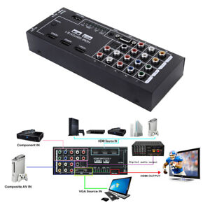 HDMI-Audio-Extractor-8-Inputs-to-1-HDMI-Output-Coaxial-5-1-Channel-Adapter-Newly