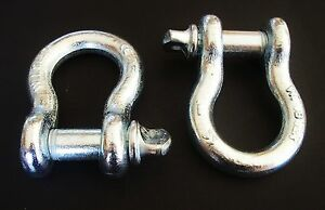 2-GOLIATH-INDUSTRIAL-1-034-BOW-SHACKLE-ANCHOR-CLEVIS-SCREW-PIN-17000LB-BS10-G-209