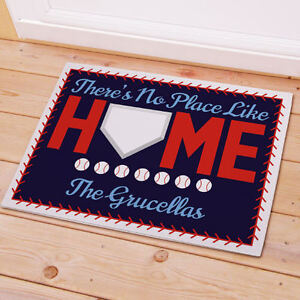 Baseball Theme Home Base Personalized Welcome Doormat