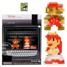 2017 SDCC COMIC CON EXCLUSIVE Super Mario & Princess 8-Bit Mini-Figures 2-Pack!