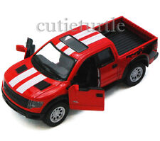Kinsmart Ford 2013 F-150 SVT Raptor Supercrew Pick Up Truck 1:46 Red w Stripes