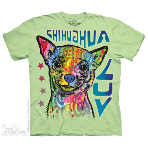 THE MOUNTAIN CHIHUAHUA LUV LOVE DOG PUPPY ADORABLE CUTE COLORFUL T SHIRT S-5XL