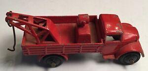 VINTAGE Dinky Toys modello No.30e guasto Auto Gru Camion Rosso Inghilterra