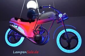 Motorrad-LED-Pendelleuchte-Fernbedienung-Kinder-Lampe-Bike-Farbwechsler-RGB-R