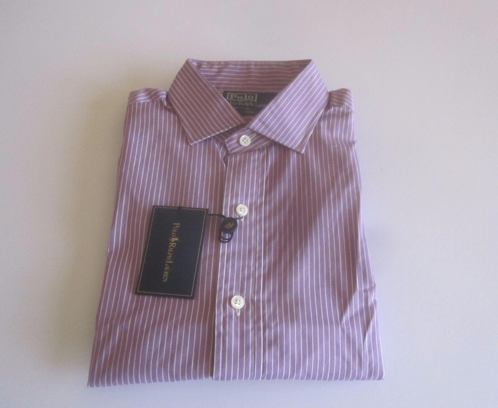 a885a1a2 Polo Ralph Lauren Stripe Estate Men's Dress Shirt purple White 15 38 NWT