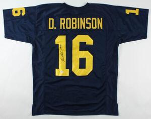 Details about Denard Robinson Signed Michigan Wolverines Jersey / Beckett Holo / Jaguars R.B.