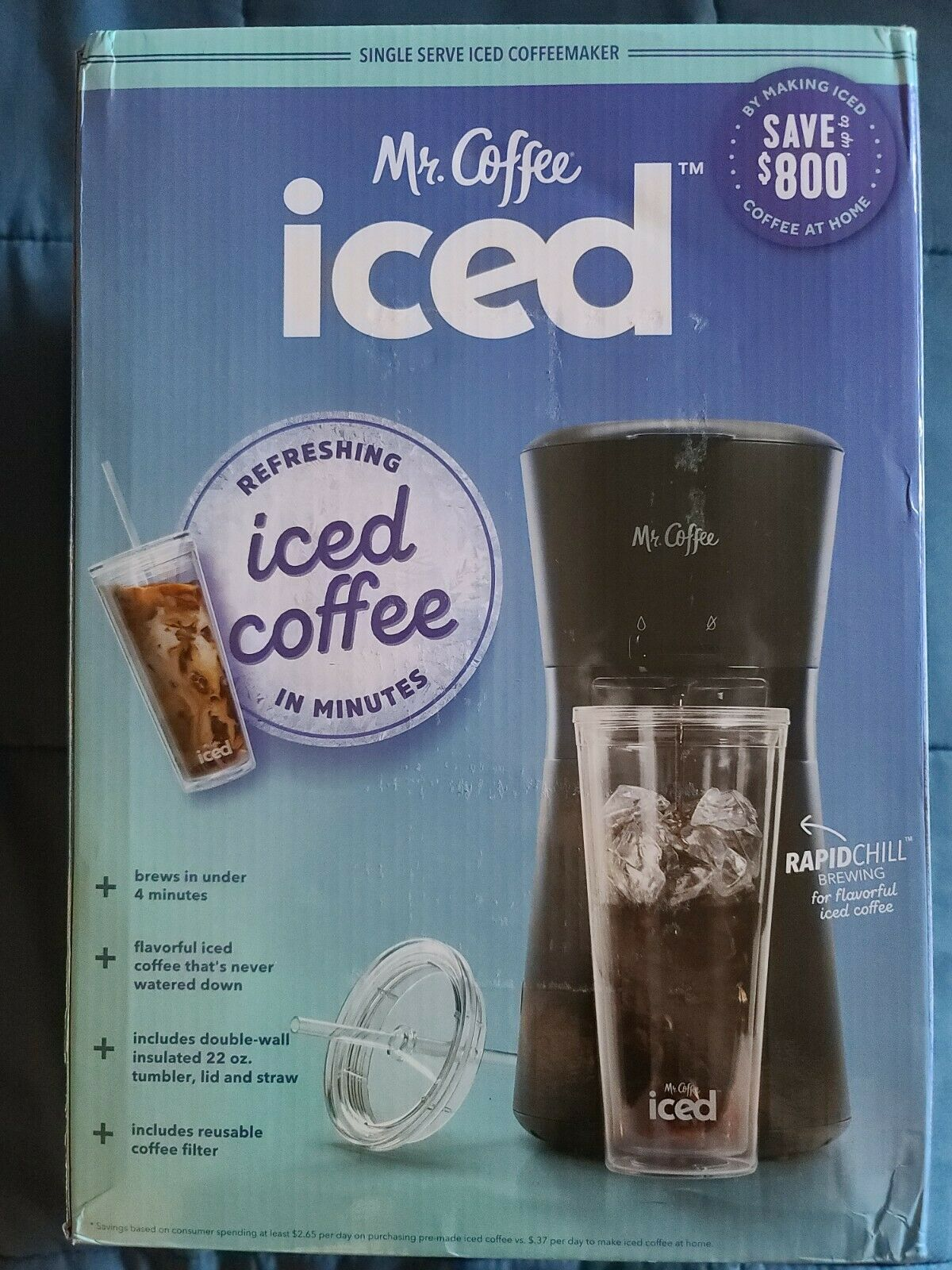 Coffee Iced Coffee Maker with Reusable Tumbler /& Coffee Filter Black Mr