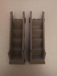 Lego-2-Dark-Grey-Stairs-Straight-Enclosed-4-x-7-x-9-1-3-Studs-4784
