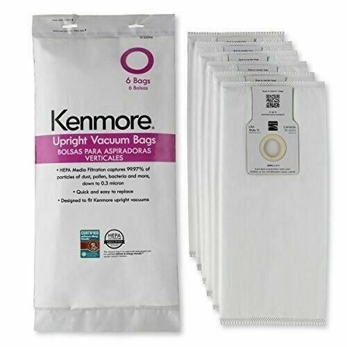 6 Pack Kenmore Type O Vacuum Bags HEPA for Upright Vacuums Style 53294