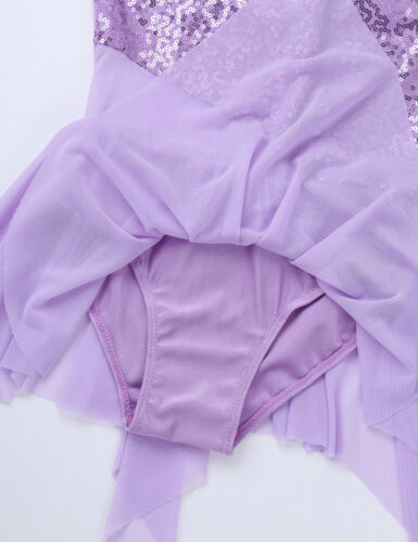 Girls Kids Lyrical Ballet Dance Dress Gymnastics Leotard Party Dancewear Costume