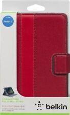 Belkin Google Nexus 7 Cinema Stripe Leather Flip Folio Case/Cover -Red