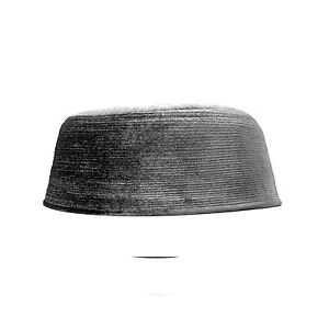 bf3ae04f388 TheKufi Dark Gray Rigid Velvet Kufi Hat Turkish Chechen Style Takke ...