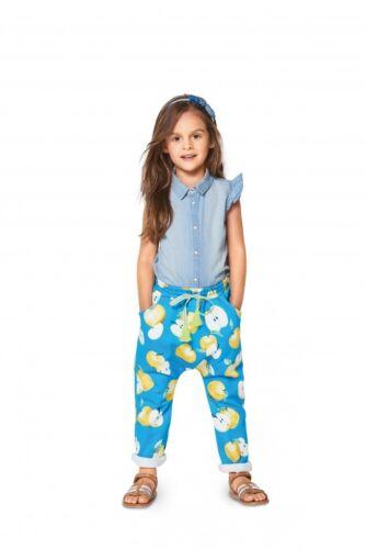 Burda niños fácil patrón de costura 9342 Cintura Elástica Pantalones Burda - 9342