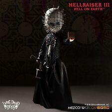 LIVING Dead Dolls Hellraiser 3 INFERNO SULLA TERRA Pinhead MEZCO in magazzino