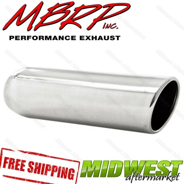 """T5137 MBRP Exhaust Tip Angled Cut Rolled End 2.25/"""" Inlet 3.5/"""" Outlet 12/"""" Length"""