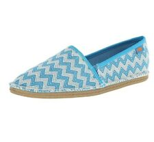 Rocket Dog Women's Henna Wave Runner Cotton Boat Shoe Turquoise Size 11