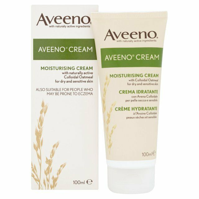 6x Aveeno Crème Hydratante Pour Les Peaux Sèches & Sensibles 100ml (Eczéma)