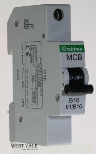 61//B16-16a type b simple pôle mcb utilisé Crabtree Starbreaker