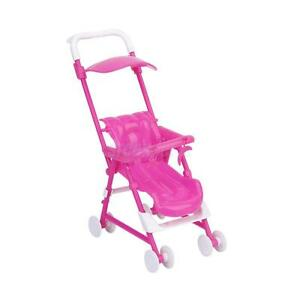 Plastic-Assembly-Barbie-Nursery-Furniture-Baby-Stroller-Trolley-for-Kelly-Doll